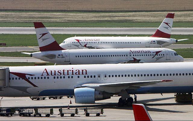 Austrian Airlines planes stand at Vienna-Schwechat airport in Vienna, Austria. (AP Photo/Ronald Zak, File)