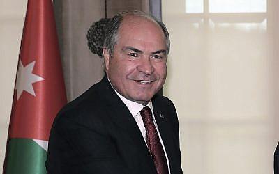 File: Jordanian Prime Minister Hani al-Mulki in Ankara, Turkey, March 7, 2017. (Pool Photo via AP)
