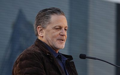 Quicken Loans founder Dan Gilbert, addresses attendees at the former site of the JL Hudson Co. department store, December 14, 2017, in Detroit, Michigan. (AP Photo/Carlos Osorio)