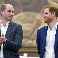 Britain's Prince William, left, and Prince Harry attend the opening the Greenhouse Centre in London, Thursday, April 26, 2018. The center will provide sport, coaching and social facilities for young people in the surrounding Marylebone community. (Toby Melville/PA via AP)