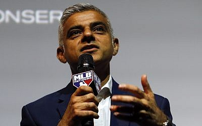 London Mayor Sadiq Khan speaking to the media during a press conference in London, Tuesday, May 8, 2018 (AP Photo/Alastair Grant)