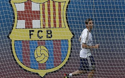 Argentina's Lucas Biglia takes part in a team training session at the Sports Center FC Barcelona Joan Gamper, in Sant Joan Despi, Spain, June 6, 2018. (AP Photo/Manu Fernandez)