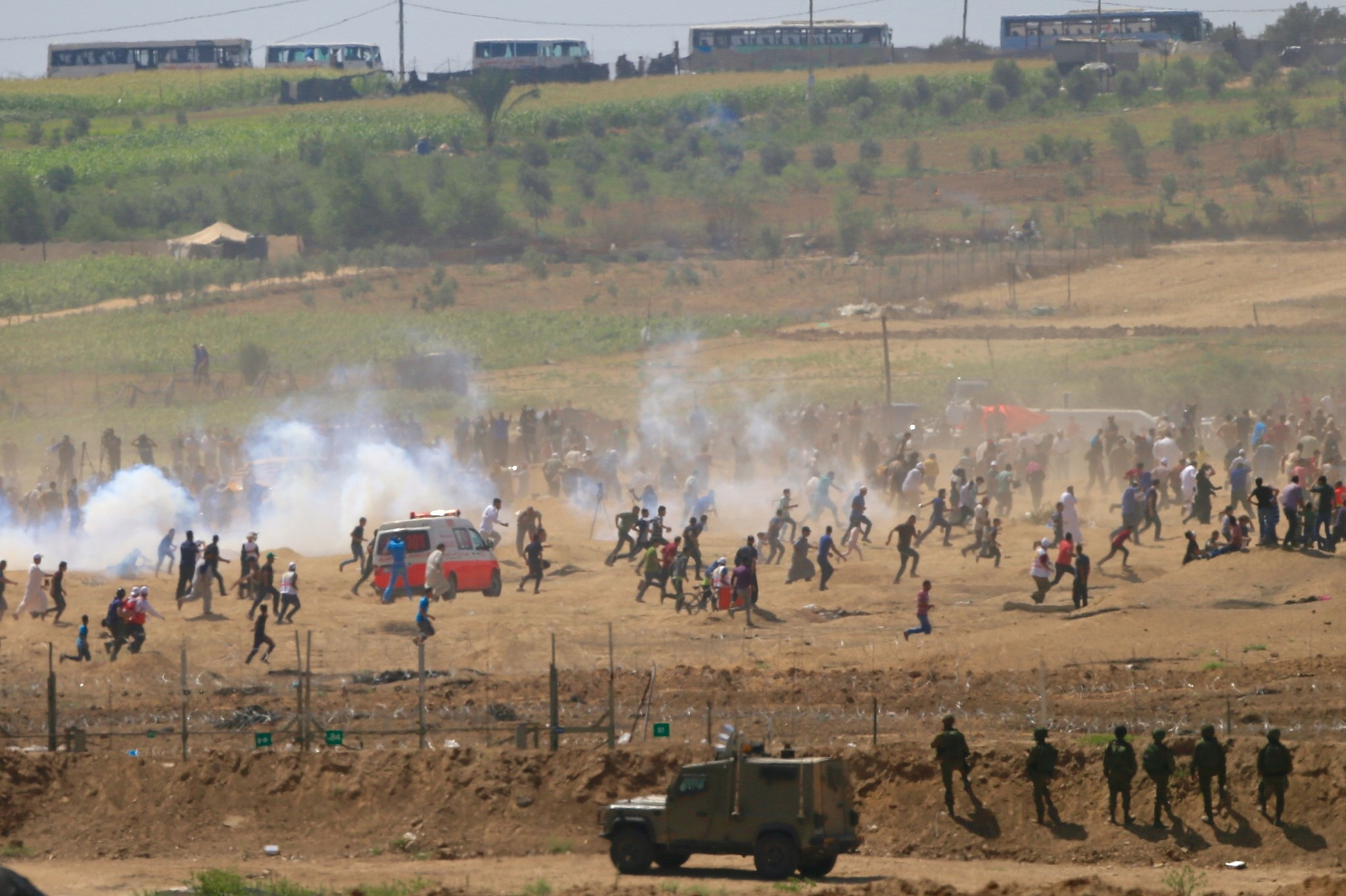 Israel and Palestine In Near-War Battle