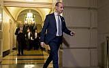 US President Donald Trump's White House senior adviser Stephen Miller arrives for a meeting with President Donald Trump on Capitol Hill in Washington, June 19, 2018 (AP Photo/Andrew Harnik)