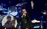 Illustrative: Ringo Starr performs in Tel Aviv, Israel, Saturday, June 23, 2018. (AP Photo/Ariel Schalit)
