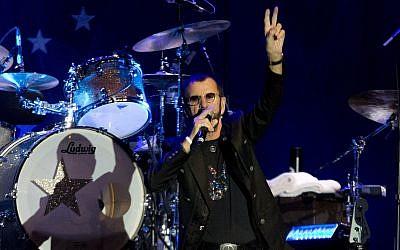 Illustrative: Ringo Starr performs in Tel Aviv, Israel, Saturday, June 23, 2018. (AP Photo/Ariel Schalit)