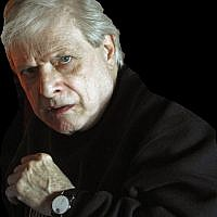 This March 13, 2012 photo provided by Steve Barber shows author Harlan Ellison in the Sherman Oaks neighborhood of Los Angeles. (Courtesy Steve Barber via AP)