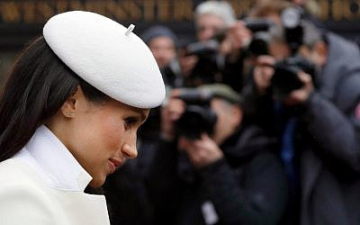 Meghan Markle wears Adina Reyter earrings on Commonwealth Day, March 12, 2018. (Kirsty Wigglesworth - Pool/Getty images via Adina Reyter)