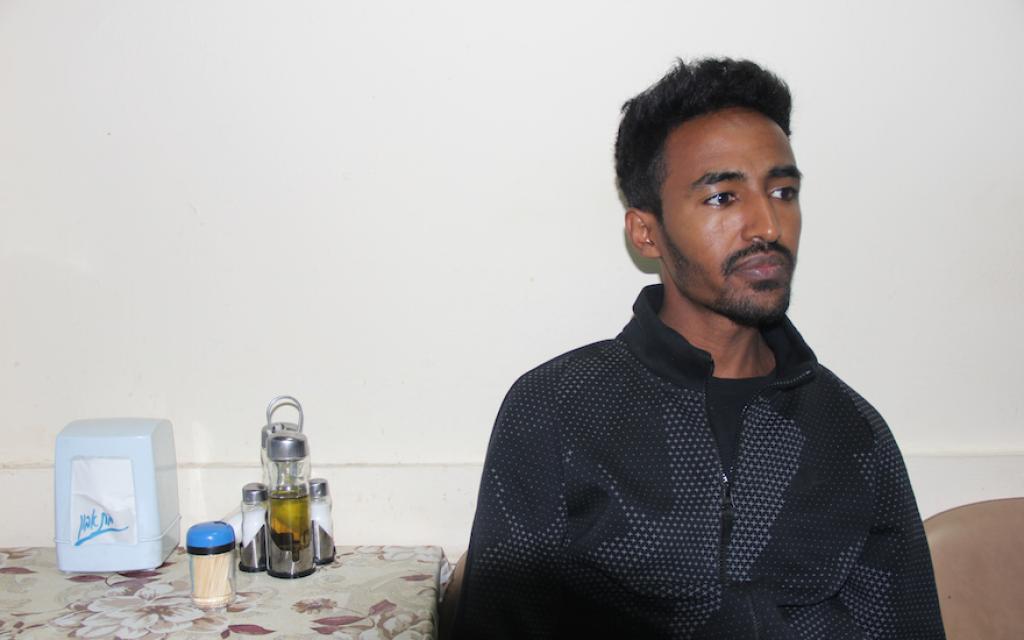 Teklit Michael is an Eritrean activist who has become a spokesman for the community. (Ben Sales/JTA)