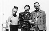 The family of Nazi SS chief Heinrich Himmler: daughter Gudrun, left, wife Margaret, center, and Heinrich, right, date unknown. (German Federal Archive, Image 146-1969-056-55/Wikipedia/CC BY-SA)