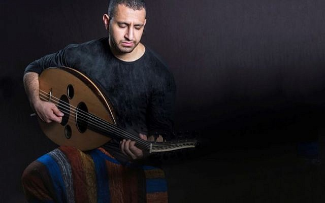 Ahmed Alshaiba, a Muslim Yemenite oud player from Sanaa, is happy to play alongside Yemen Blues. (Courtesy)