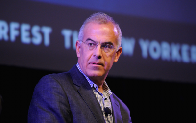 David Brooks speaks onstage at the The New Yorker Festival 2014 on October 19, 2014, in New York City. (Bryan Bedder/Getty Images for The New Yorker/via JTA)