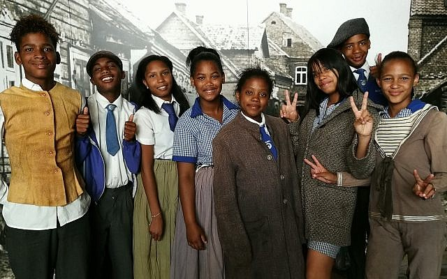 Students dress in shtetl clothing as part of the Education Outreach program at the South African Jewish Museum. (Courtesy South African Jewish Museum)