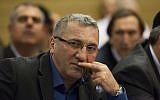 Parliament member Robert Tiviaev of the Kadima party at a Knesset House committee on December 3, 2012. (Yonatan Sindel/FLASH90)