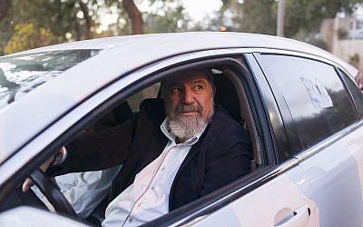 Samaria Regional Council chairman Gershon Mesika arrives at the Prime Minister's Office in Jerusalem on December 26, 2012. (Yonatan Sindel/Flash90)