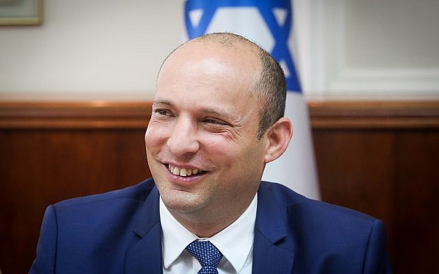 Education Minister Naftali Bennett attends the weekly cabinet meeting at the Prime Minister's Office in Jerusalem on September 3, 2017. (Marc Israel  Sellem/Pool/Flash90)