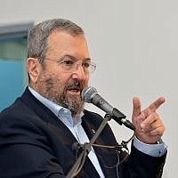 Former Defense Minister Ehud Barak in Tel Aviv, on December 22, 2017. (Flash90)