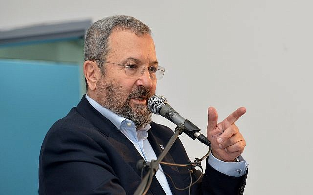 Former Defense Minister Ehud Barak in Tel Aviv, on December 22, 2017. (Flash90)