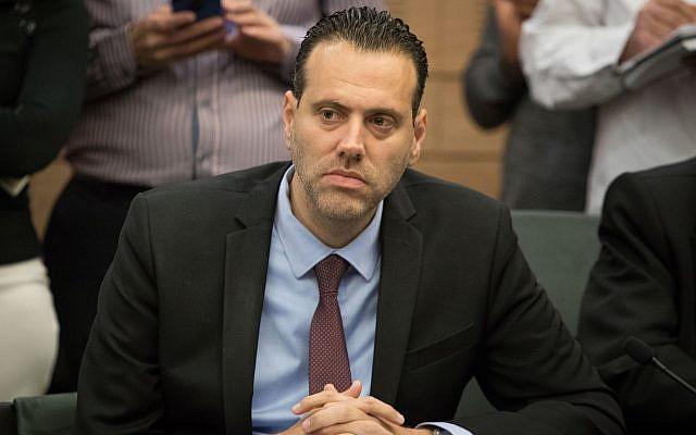 Likud MK Miki Zohar speaks during an Interior Affairs Committee meeting at the Knesset, in Jerusalem, February 20, 2018. (Yonatan Sindel/Flash90)
