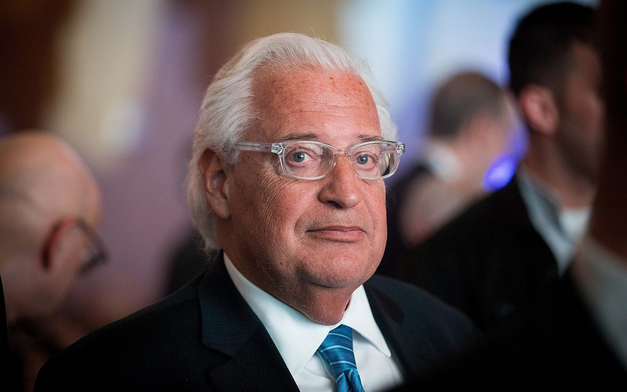 US Ambassador to Israel David Friedman attends the 6th Global Forum for Combating Anti Semitism in Jerusalem