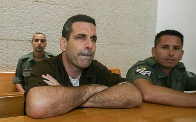 Former energy minister Gonen Segev, seen at the Supreme Court in Jerusalem for the appeal on his prison sentence on August 18, 2006. (Flash90)