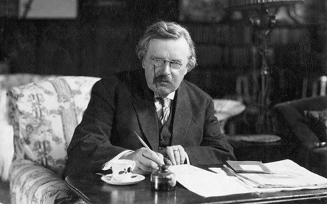 20th century writer G.K. Chesterton is up for canonization -- but critics say he espoused virulently anti-Semitic views. (Public domain)