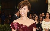 Scarlett Johansson attends the Costume Institute Gala at The Metropolitan Museum of Art on May 7, 2018 in New York City. (Jamie McCarthy/Getty Images via JTA)