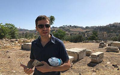 Archaeologist Zachi Dvira (Amanda Borschel-Dan/Times of Israel)