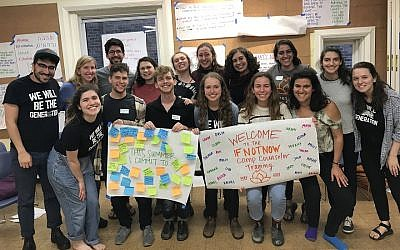 Participants in a camp counselor training by IfNotNow in Boston, May 27, 2018. (IfNotNow/via JTA)