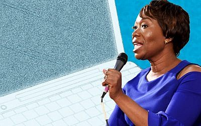 Embattled MSNBC host Joy Reid (Photo illustration by Charles Dunst/Source: Getty Images via JTA)