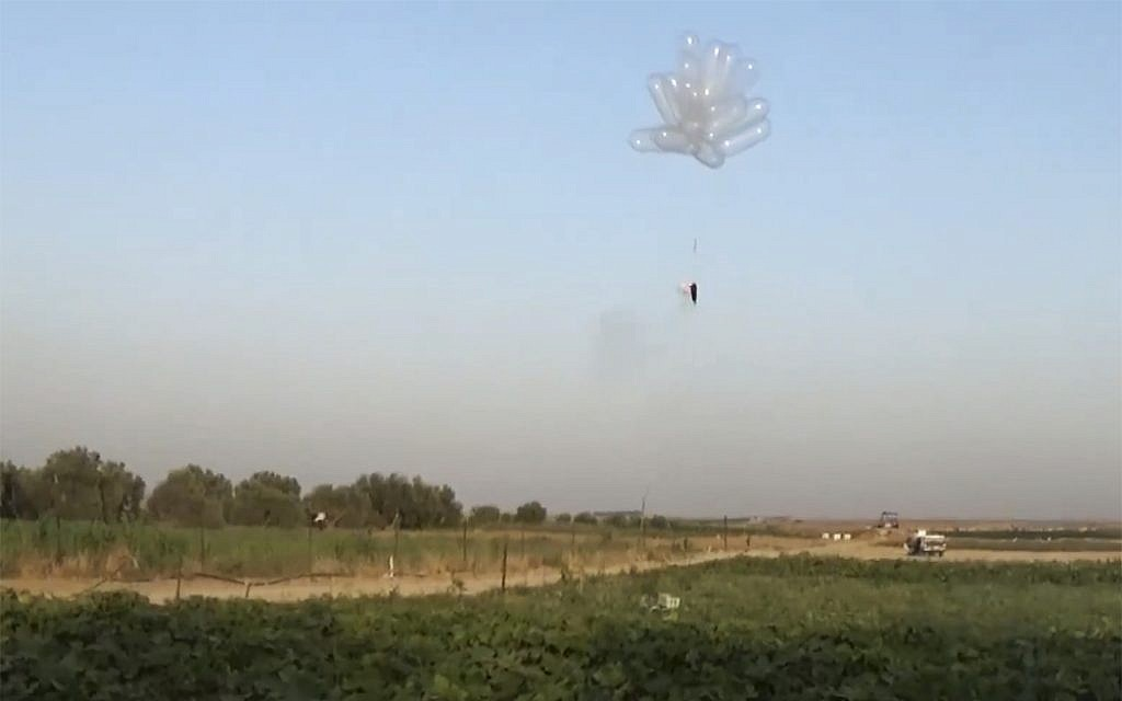 Beyond kites: 'Fire balloons' increasingly used to set southern Israel ablaze | The Times of Israel