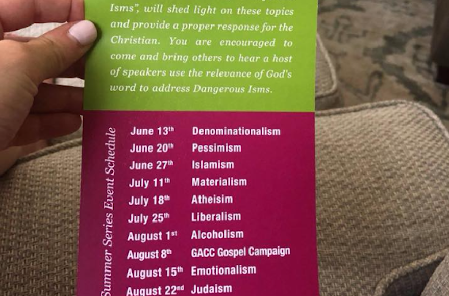 Dallas-area church says Judaism is 'dangerous' | The Times of Israel
