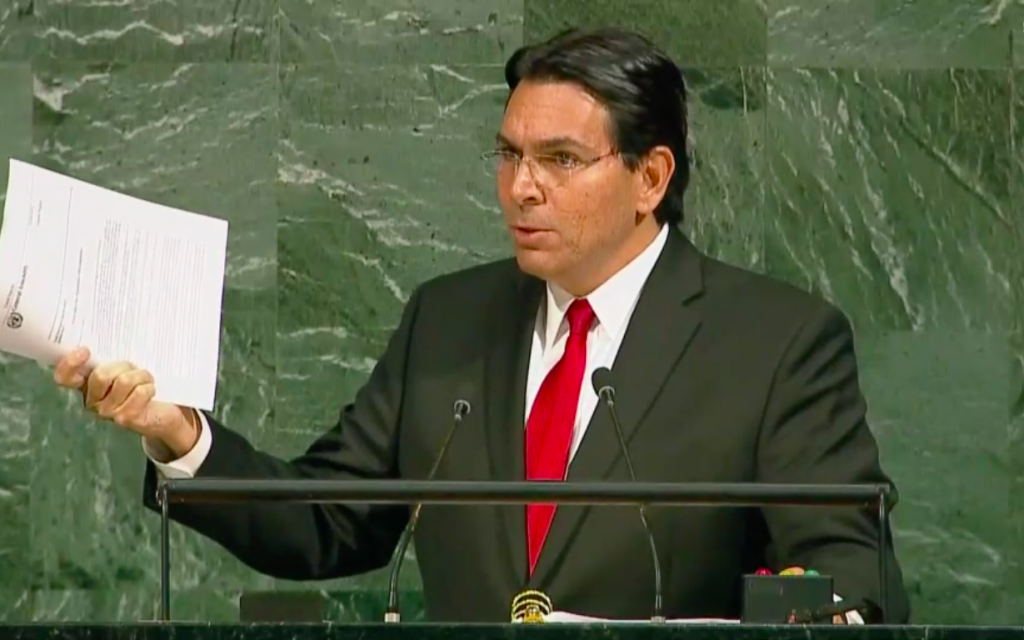 Denouncing UN chief, Danon says Gazans need protection from Hamas, not Israel