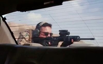 Jordan's Crown Prince Hussein bin Abdullah takes part in a live-fire combat drill with his father, King Abdullah, in a video released on June 28, 2018. (Screen capture: Instagram)