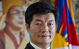 Sikyong Lobsang Sangay (courtesy Department of International Relations, Central Tibetan Administration, Dharamsala)