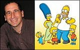 Mike Reiss, writer for 'The Simpsons,' and the animated cast. (Sarah/Wikimedia Commons/ Bago Games)