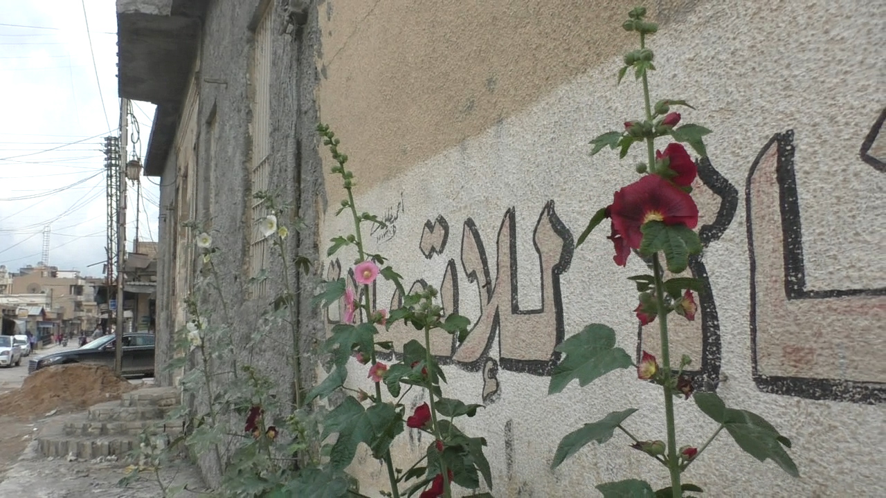 The side of the synagogue in Qamishli, Syria. (Ziv Genesove/ Times of Israel)