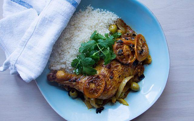 Three-lemon chicken tagine, by chef Einat Admony. (Courtesy)