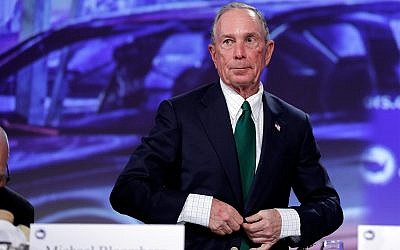 Michael Bloomberg arrives for the annual U.S. Conference of Mayors meeting, Monday, June 26, 2017, in Miami Beach, Fla. (AP Photo/Lynne Sladky)