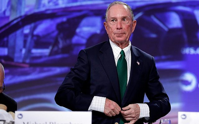 Michael Bloomberg arrives for the annual US Conference of Mayors meeting, Monday, June 26, 2017, in Miami Beach, Fla. (AP Photo/Lynne Sladky)