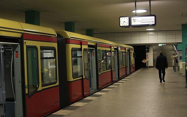 Illustrative photo of a man on the platform of a Berlin train station. February 23, 2008. (Doron Horowitz/Flash90)