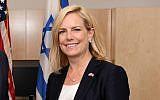 US Secretary of Homeland Security Kirstjen Nielsen in Jerusalem, June 11, 2018 (Courtesy Public Security Ministry)