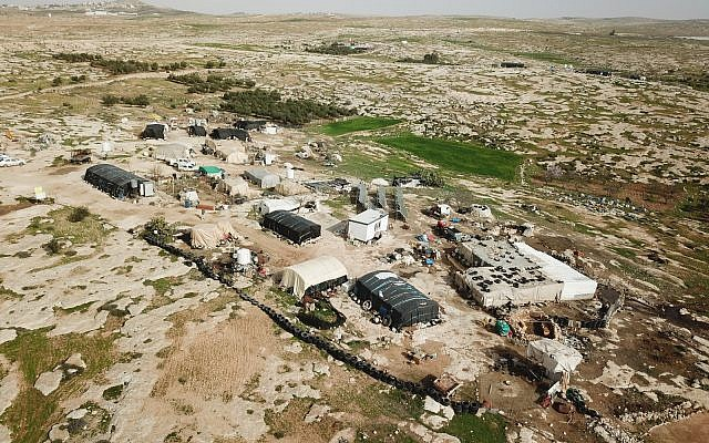 The Bedouin Palestinian village of Sussiya in the southern West Bank. (Har Hebron Regional Council)