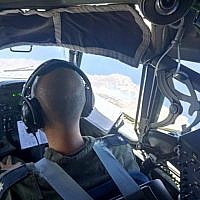 The view over Greece from the cockpit of an Israeli Air Force plane taking part in an aerial exercise over the European nation in June 2018. (Israel Defense Forces)