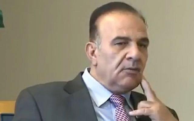 Jordanian journalist Yousef Alawnah speaks to Saudi 24 TV in an interview that aired on June 12, 2018. (screen capture: MEMRI)