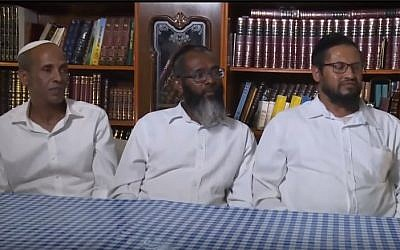 Employees of the Barkan Winery who were transferred from their jobs over questions of their Jewishness. (screen capture: Kan)