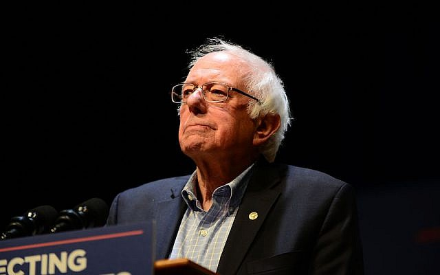 US Sen. Bernie Sanders speaks at a MoveOn.org rally in Reading, Pennsylvania, December 3, 2017. (Lisa Lake/Getty Images for MoveOn.org)