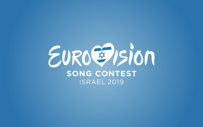 The preliminary logo of the 2019 Eurovision Song Contest in Israel, to be used until the host city is known. (Courtesy/European Broadcasting Union)