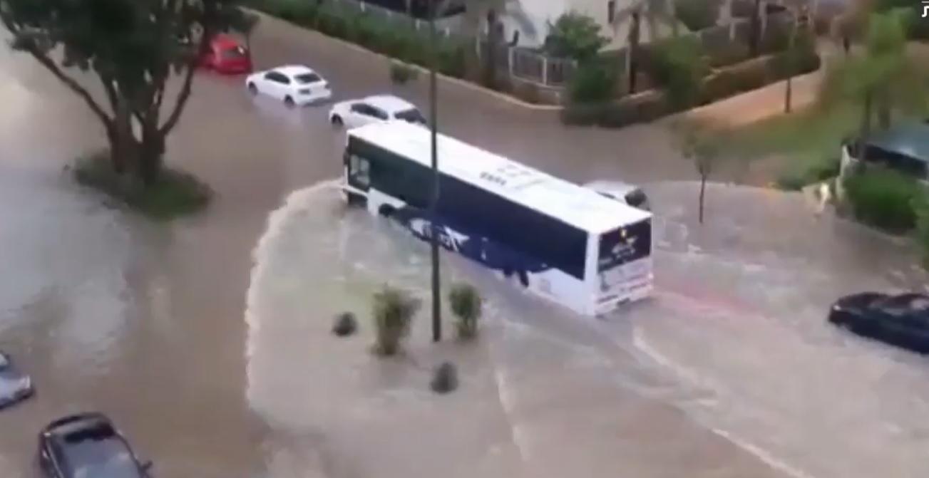 Flooding In Sderot On June 13 2018 Screen Capture Twitter Hadashot