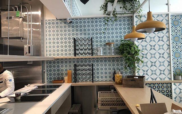 Kitchen at chef Einat Admony's new restaurant, Kish-Kash. (Courtesy)